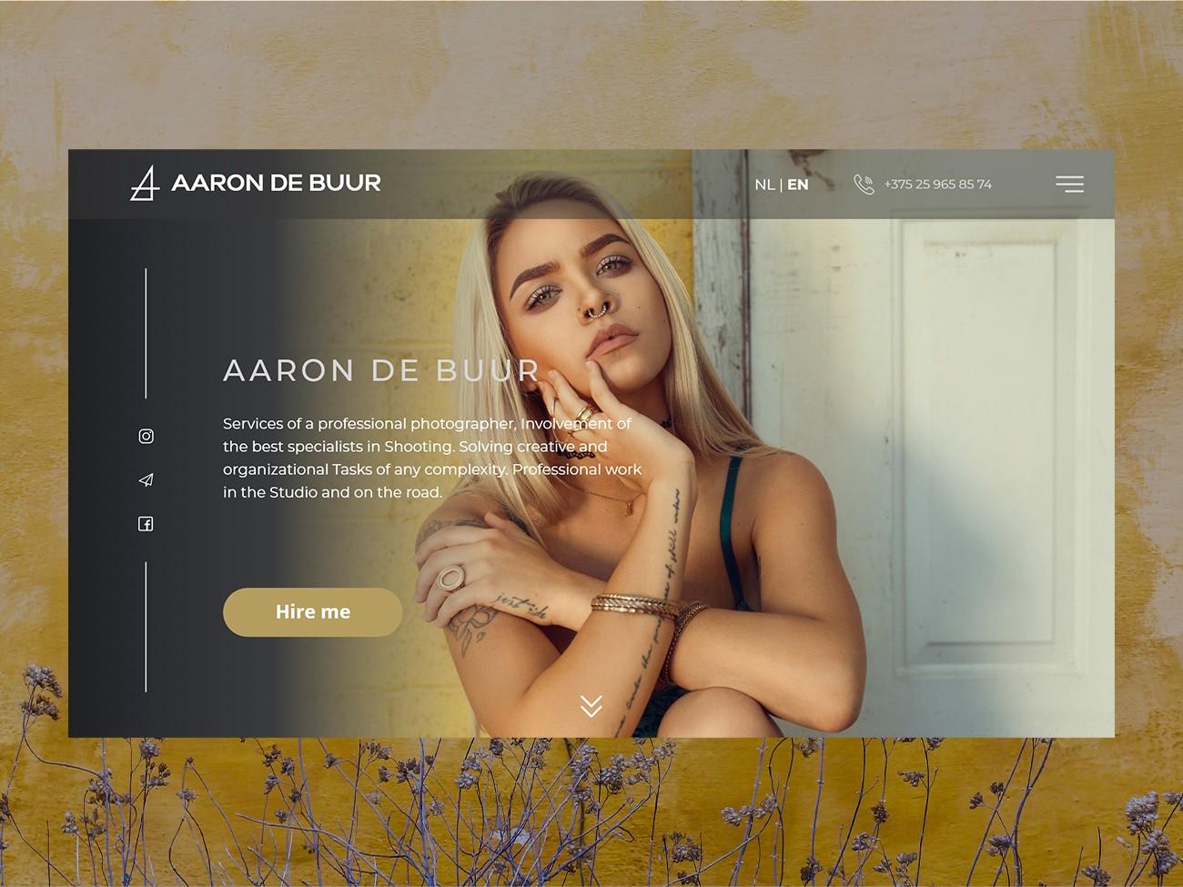 Webdesign einer Landingpage