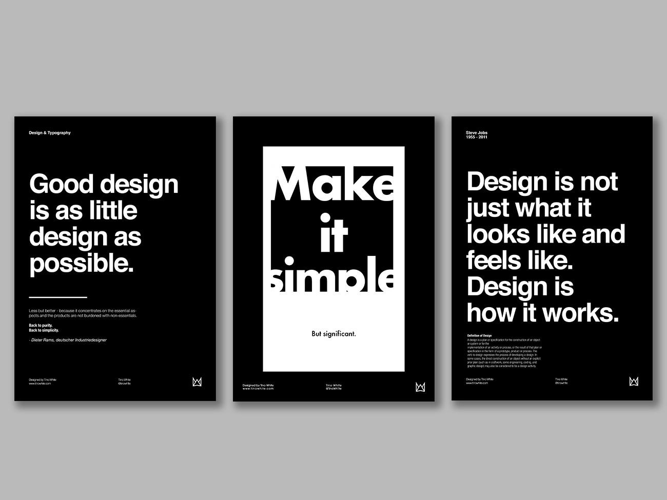 Typografie A3 Poster Design