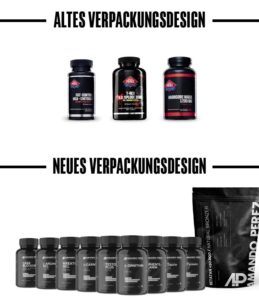 Altes Verpackungsdesign und neues Verpackungsdesign