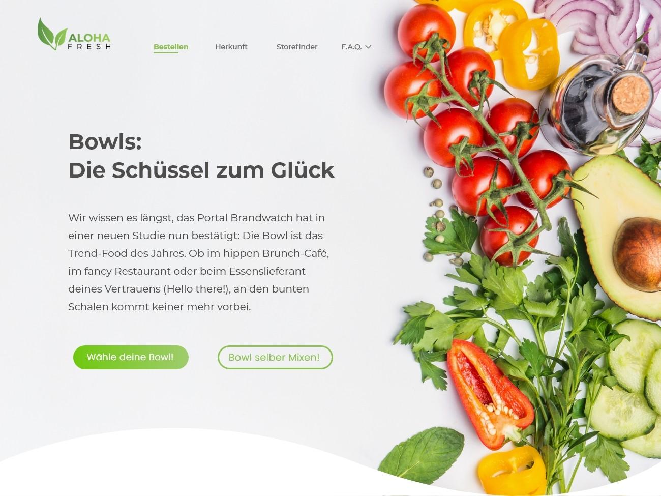 Website Design Online Shop Food