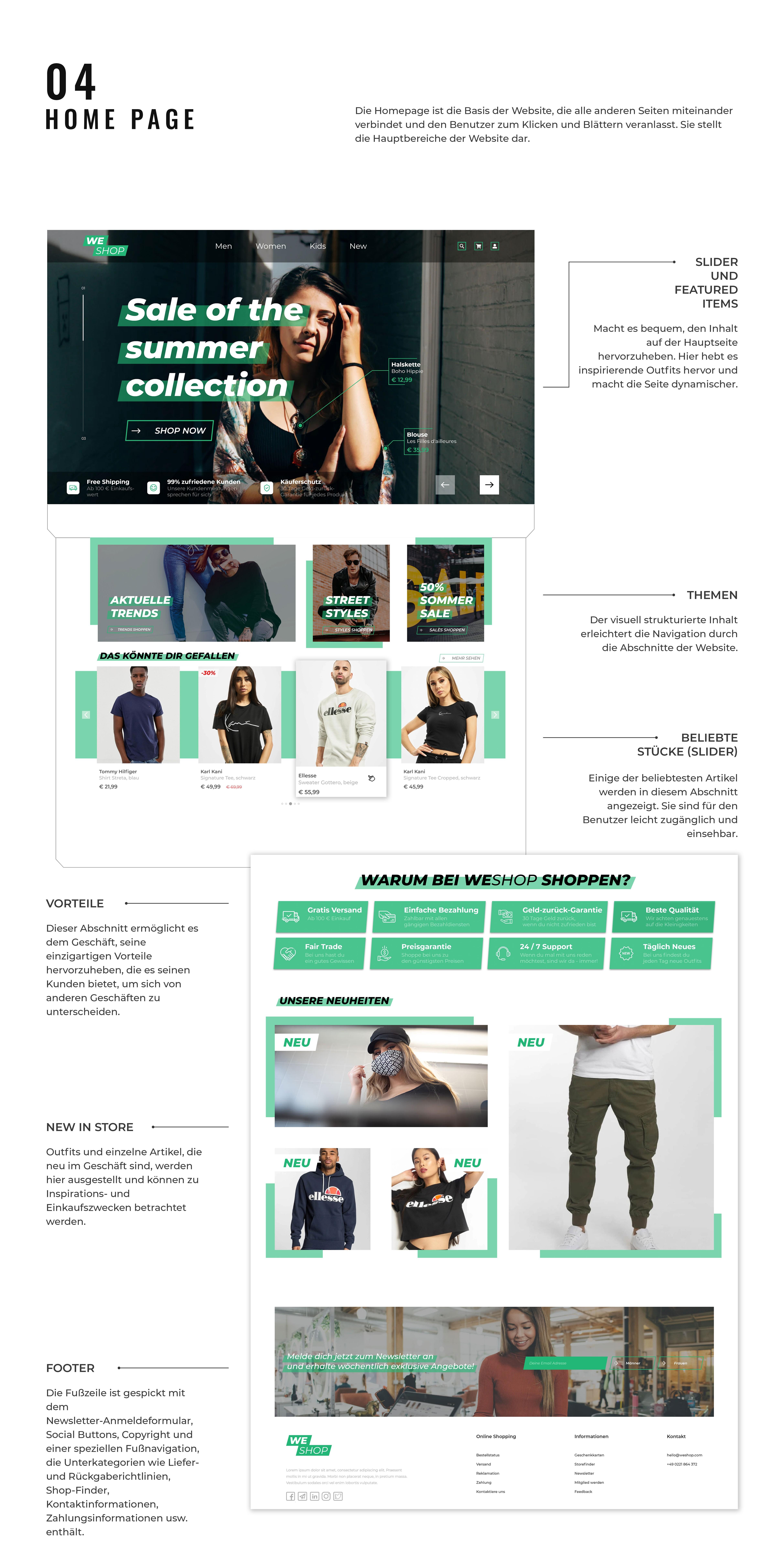 Onlineshop Webdesign Präsentation (2)